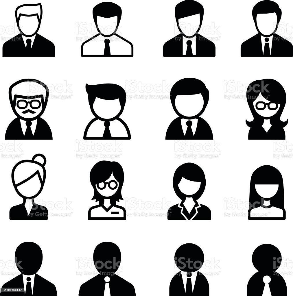 staff icon vector art illustration
