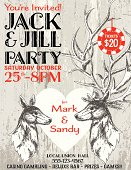 Stag and Doe Party Invitation Template