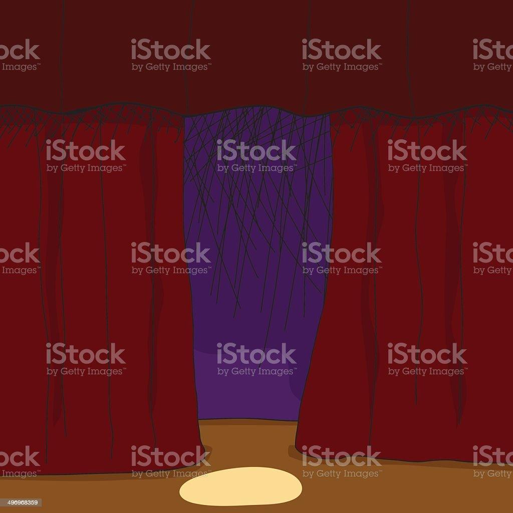 Stage Background vector art illustration