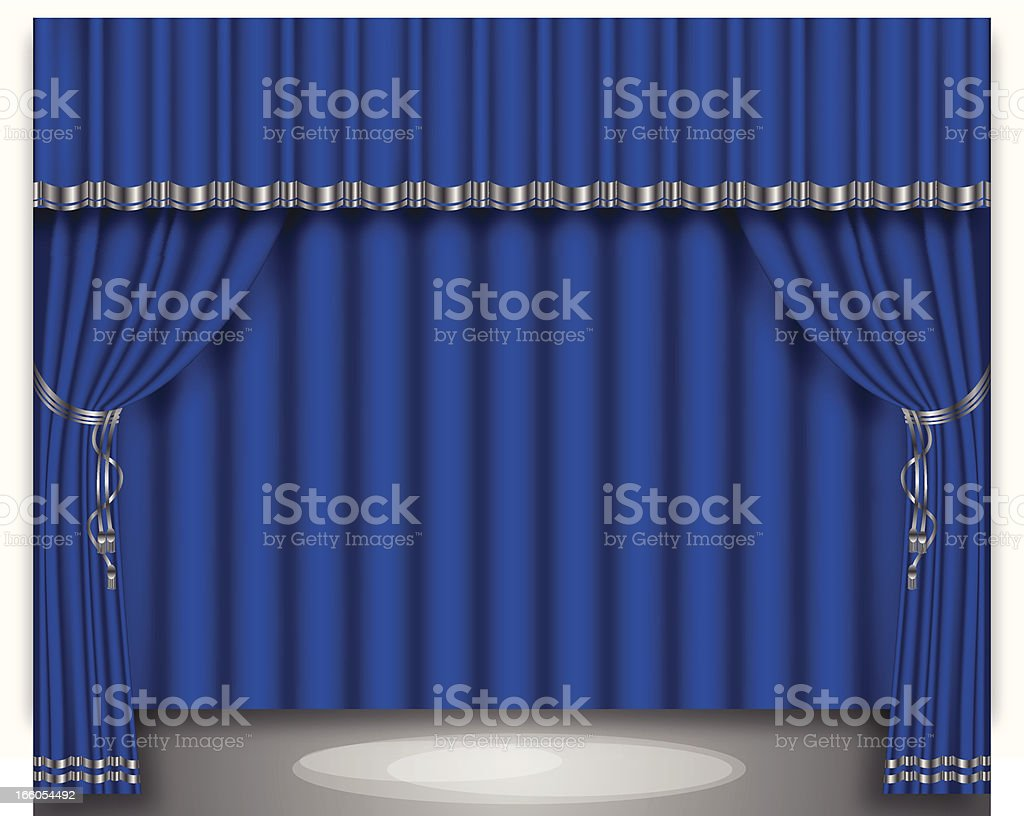 Stage Curtain royalty-free stock vector art