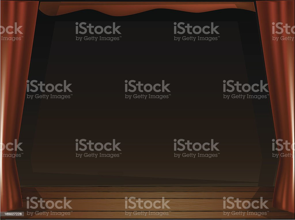 Stage Curtains royalty-free stock vector art