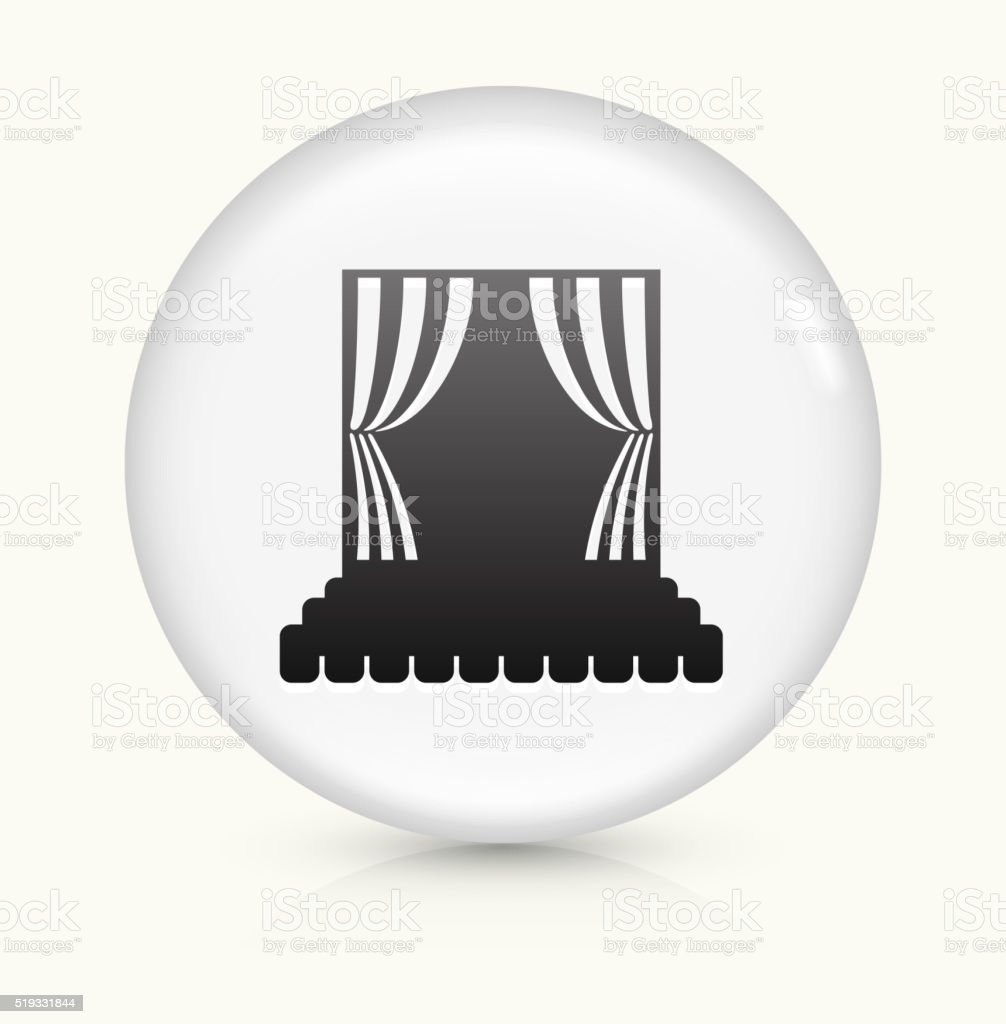 Stage icon on white round vector button vector art illustration