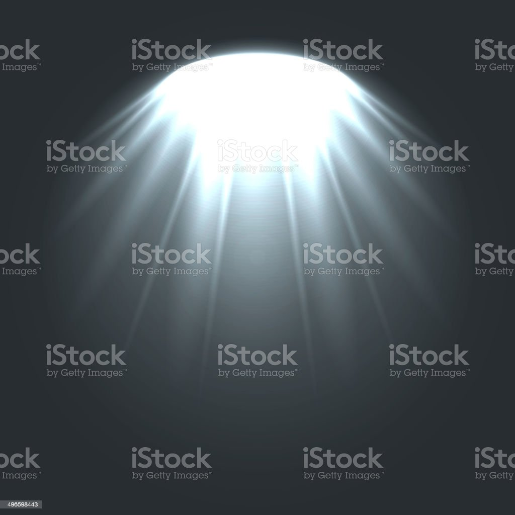Stage ies lights with smoky effect background. royalty-free stock vector art