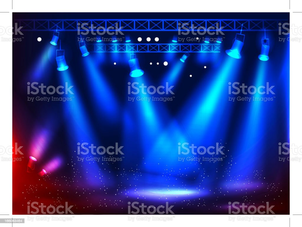 Stage Light royalty-free stock vector art