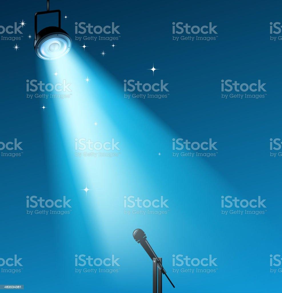 stage lighting vector art illustration