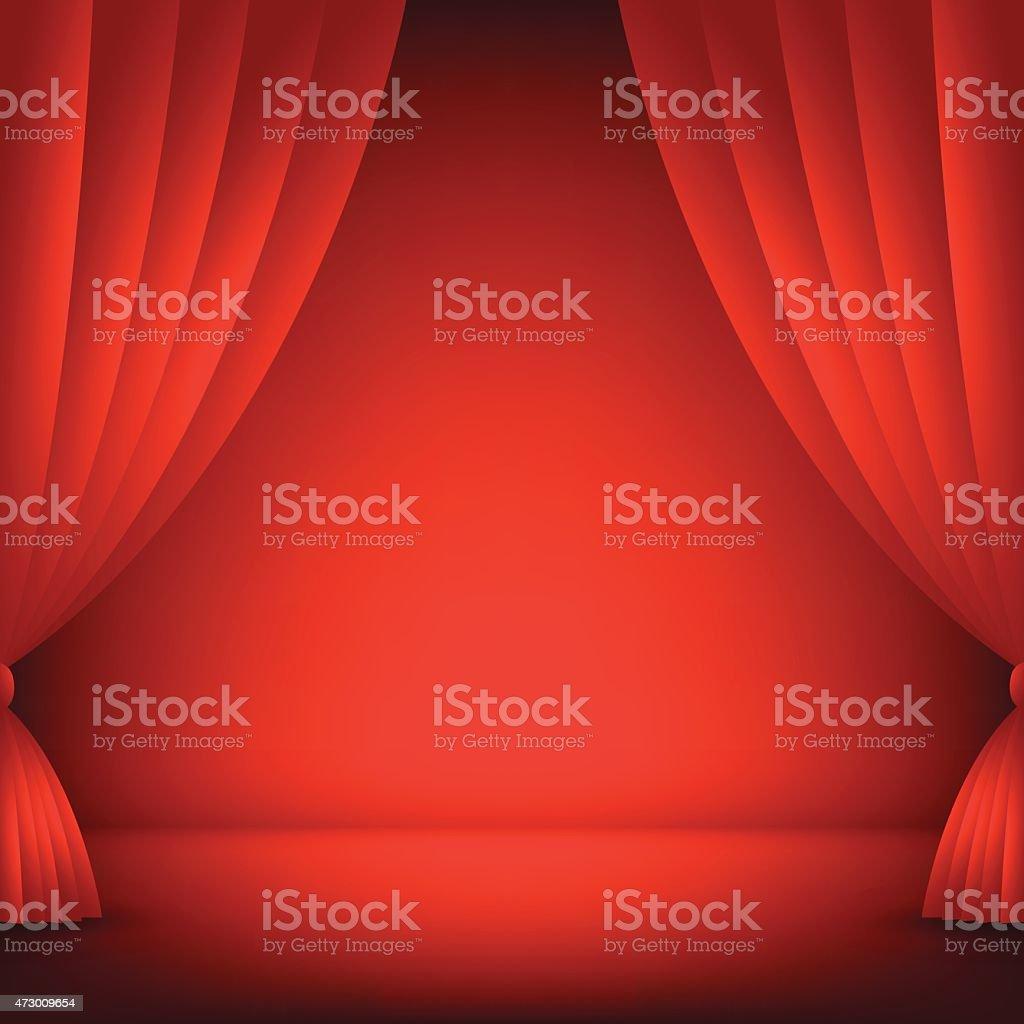 Scène Fond Rouge Illustration Vectorielle Stock Vecteur Libres de ...