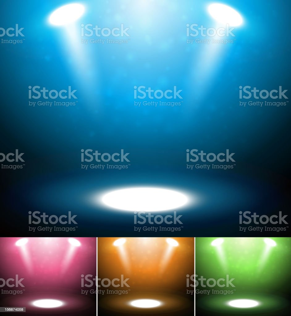 Stage spotlights collection vector art illustration