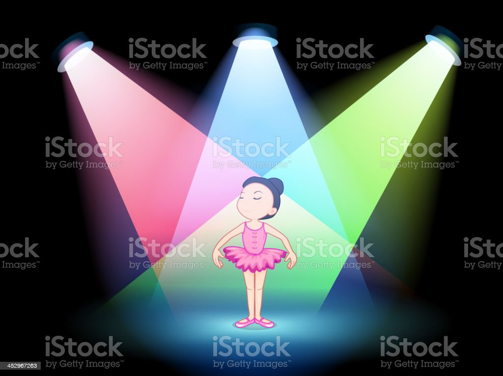 stage with a ballet dancer royalty-free stock vector art