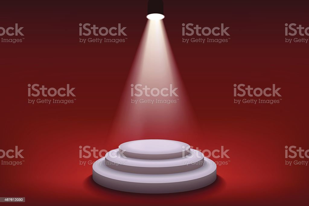 Stage with a red background royalty-free stock vector art