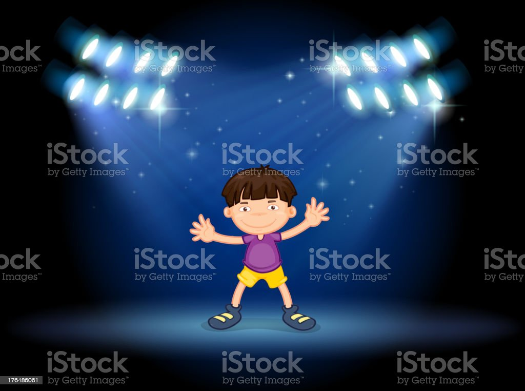 stage with a young dancer royalty-free stock vector art