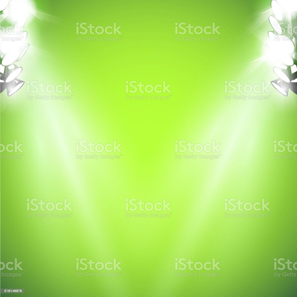 stage with light and Sparkling vector art illustration