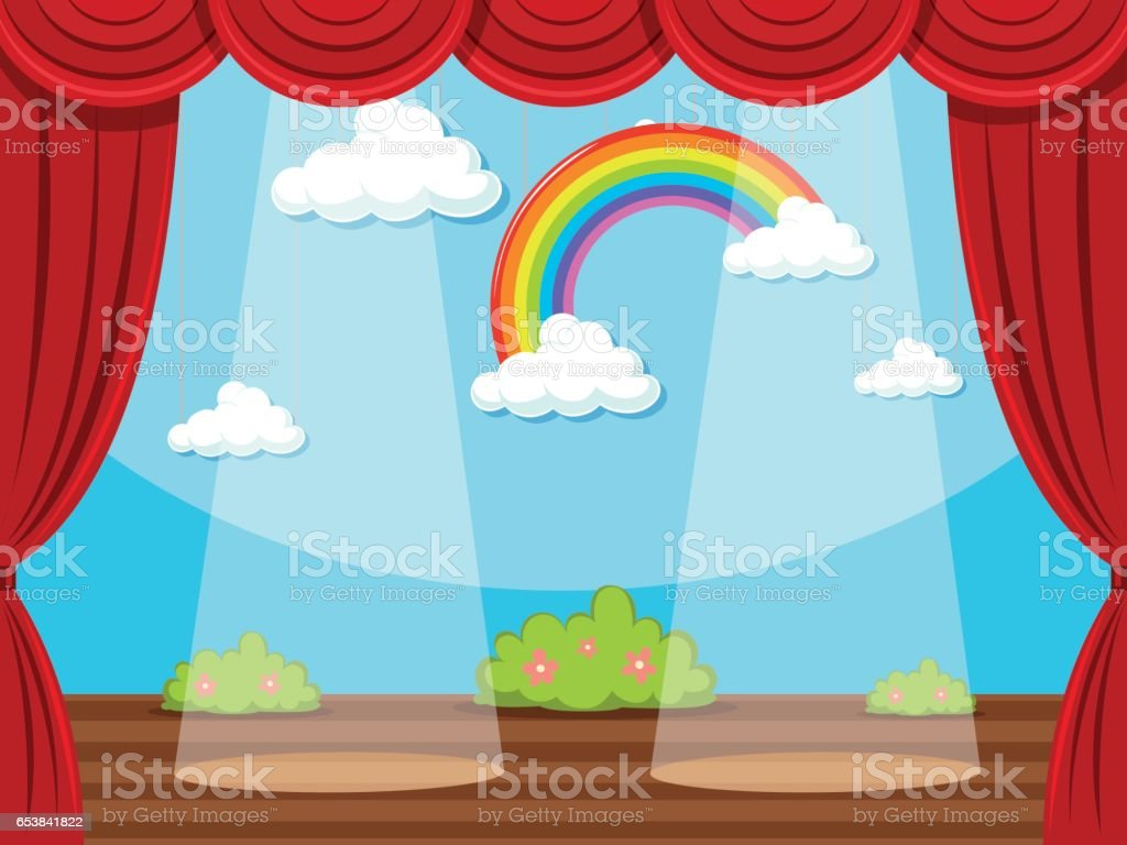 Light blue stage curtain - Curtain Light Natural Phenomenon Rainbow Stage Performance Space Usa