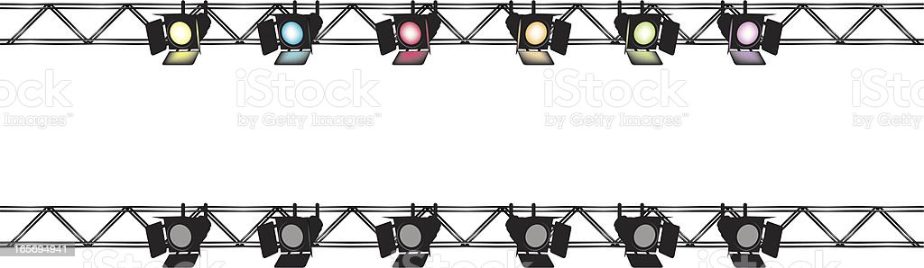 Stagelights royalty-free stock vector art