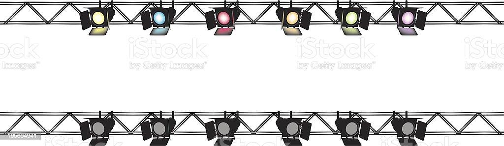 Stagelights vector art illustration