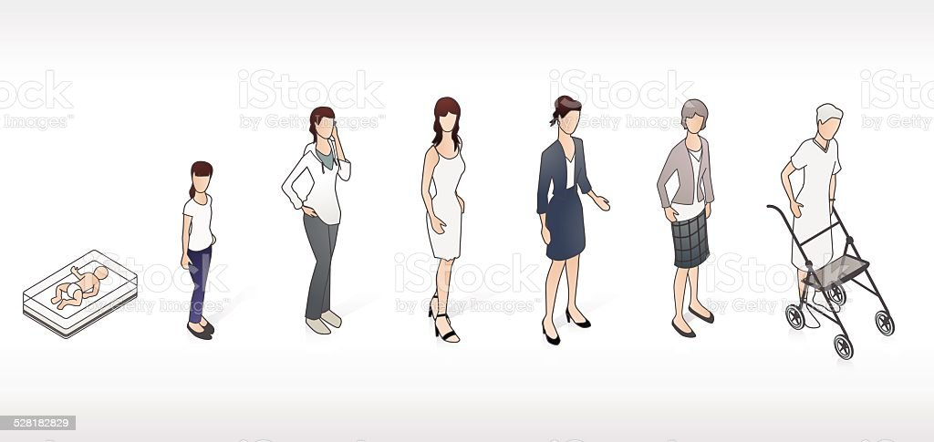 Stages of Life Illustration vector art illustration