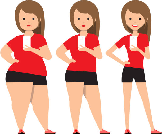 Overweight Woman Clip Art, Vector Images & Illustrations ...