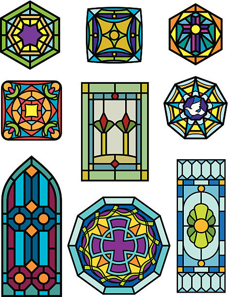 Glass Window Clip Art : Stained glass clip art vector images illustrations istock