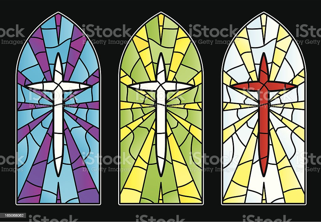 stained glass cross royalty-free stock vector art