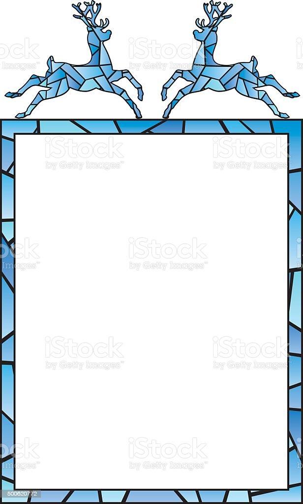 Stained Glass Frame vector art illustration