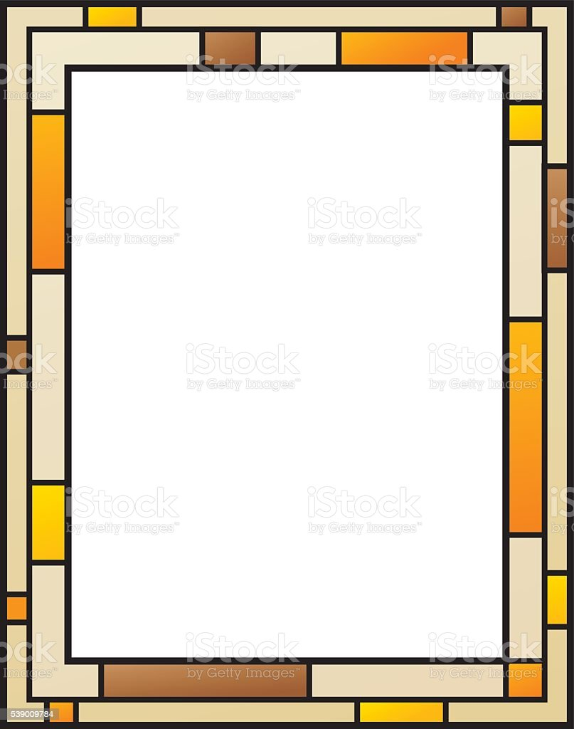 Stained Glass Frame vector art illustration