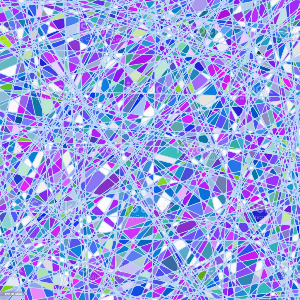 Stained glass texture in a purple tone. EPS 8 royalty-free stock vector art