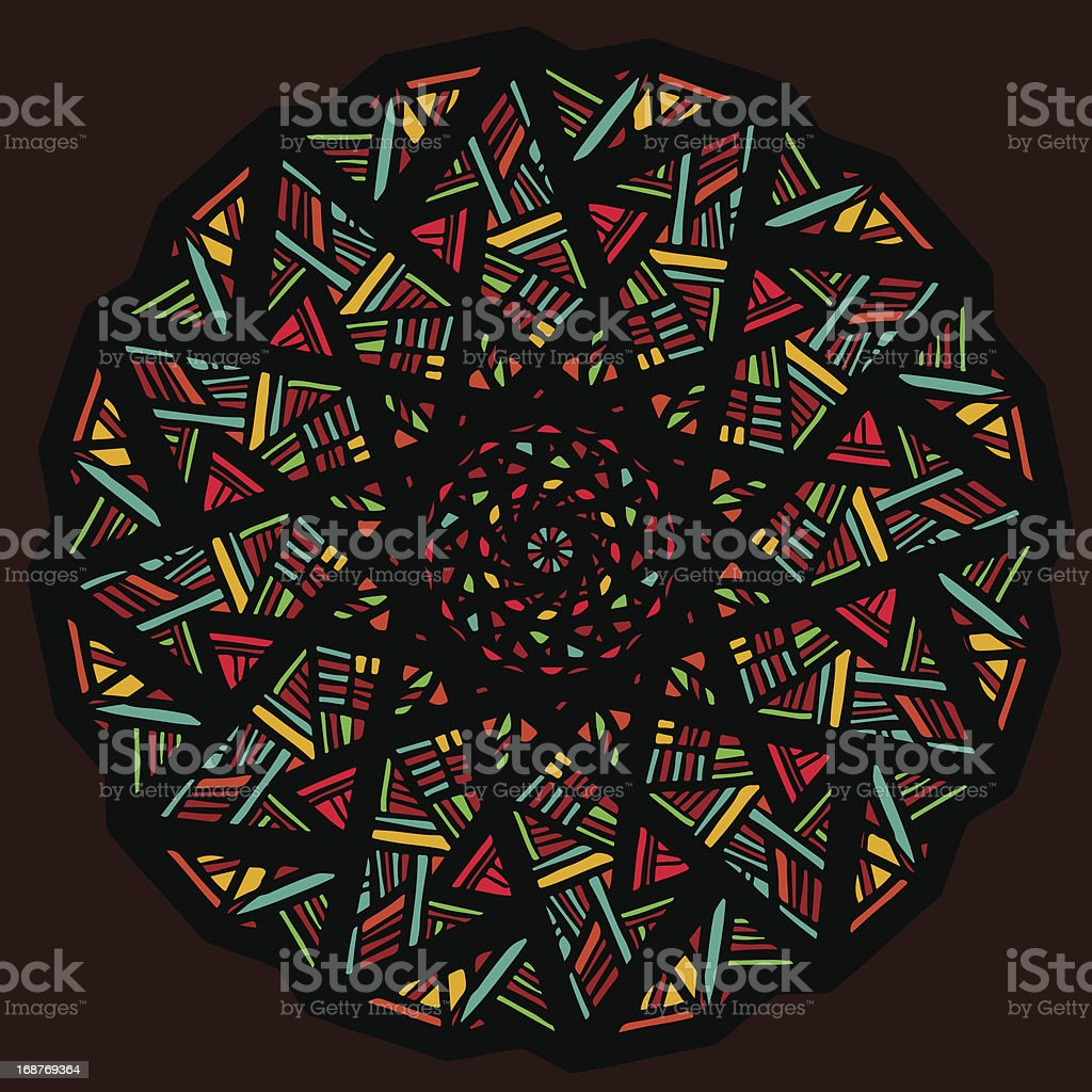 Stained glass vector art illustration