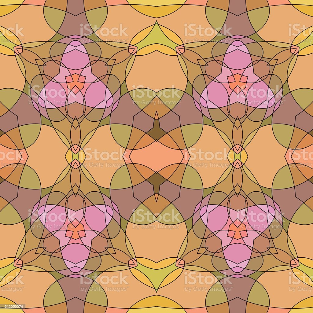 Stained-glass seamless background. vector art illustration