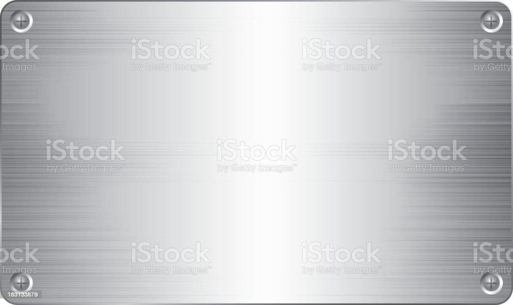 Stainless Steel board vector art illustration