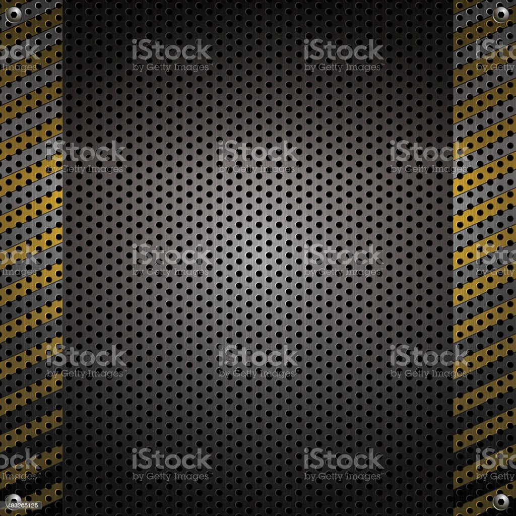 Stainless Steel with perforation royalty-free stock vector art