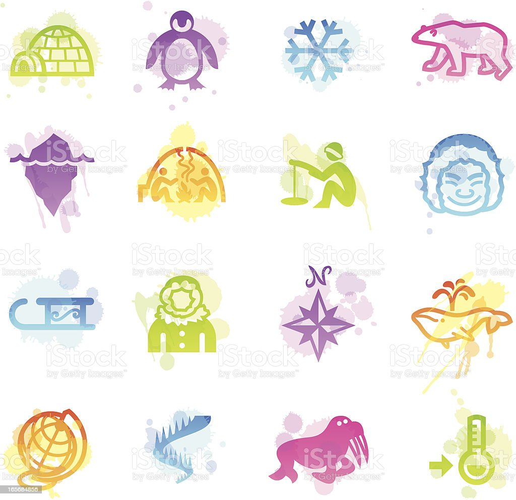 Stains Icons - Arctic royalty-free stock vector art