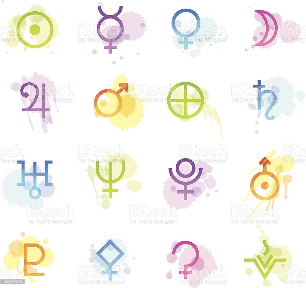 Stains Icons - Astrology royalty-free stock vector art