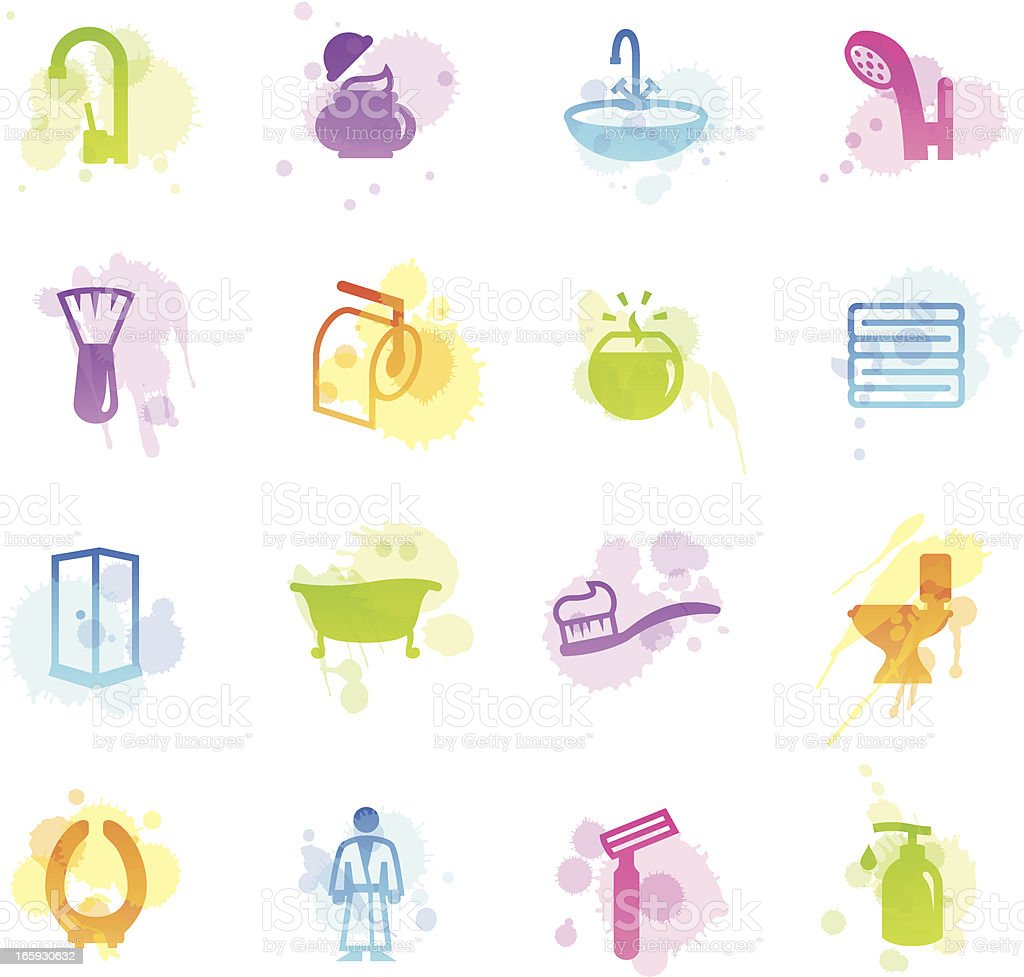 Stains Icons - Bathroom royalty-free stock vector art