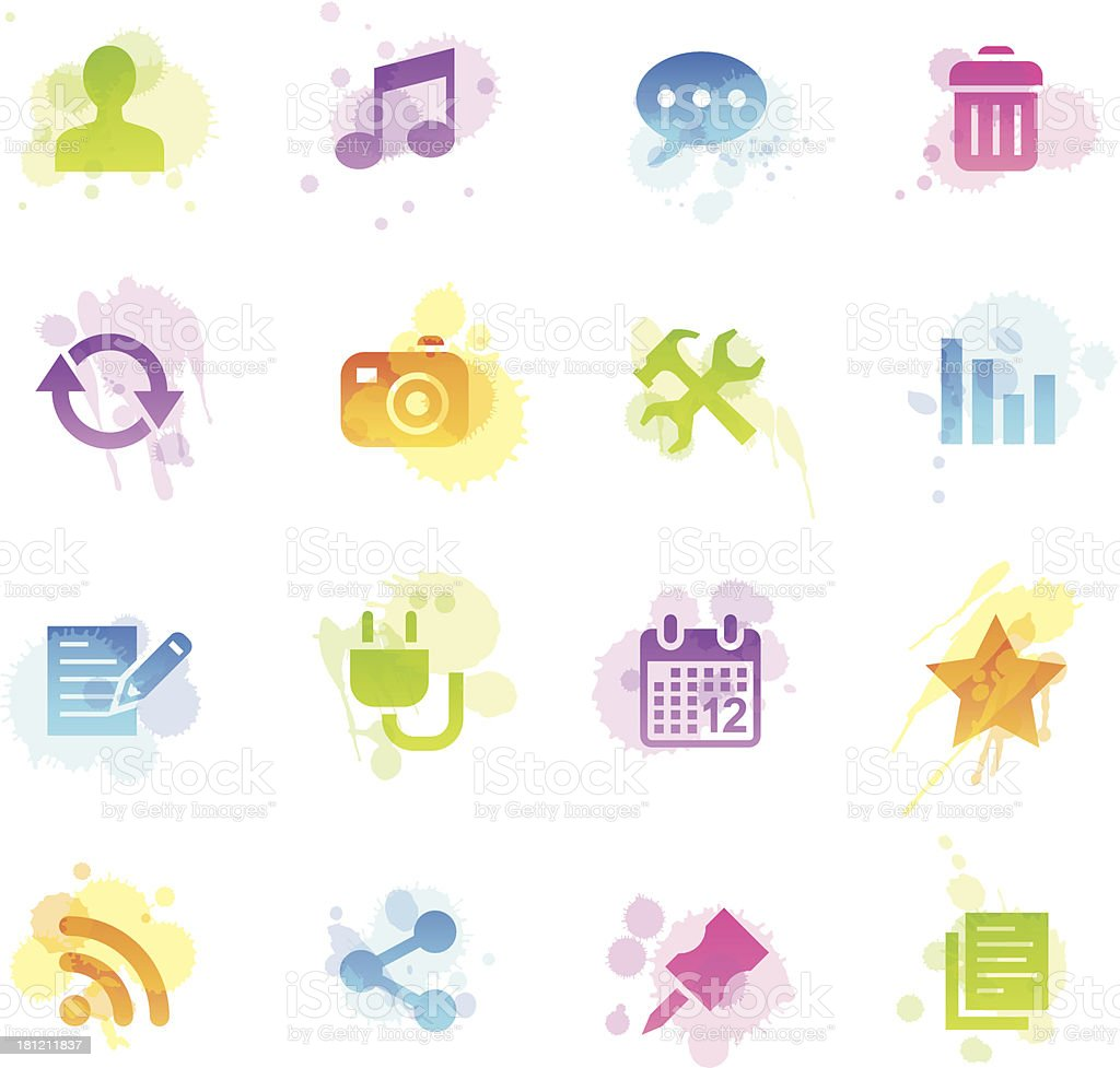 Stains Icons - Blog royalty-free stock vector art