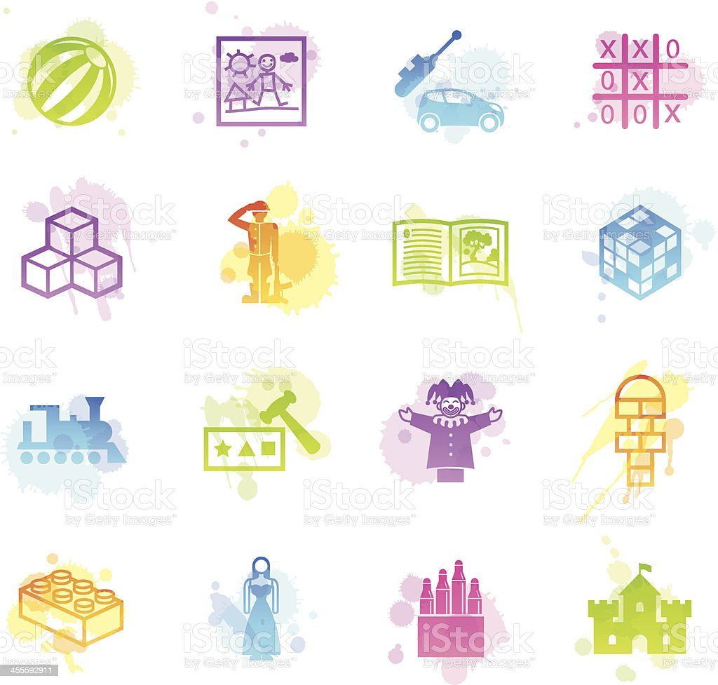 Stains Icons - Childplay & Toys royalty-free stock vector art