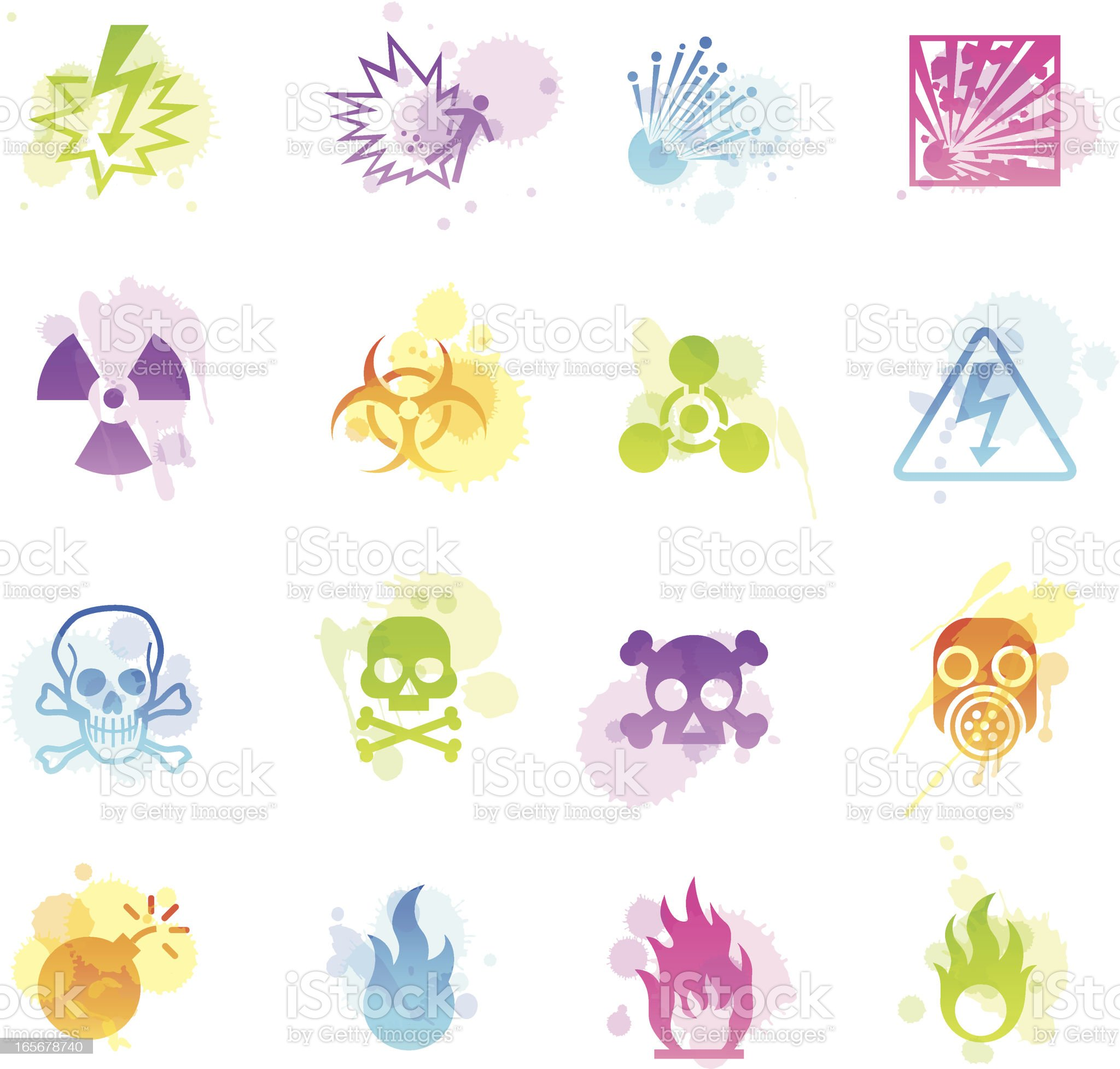 Stains Icons - Danger royalty-free stock vector art