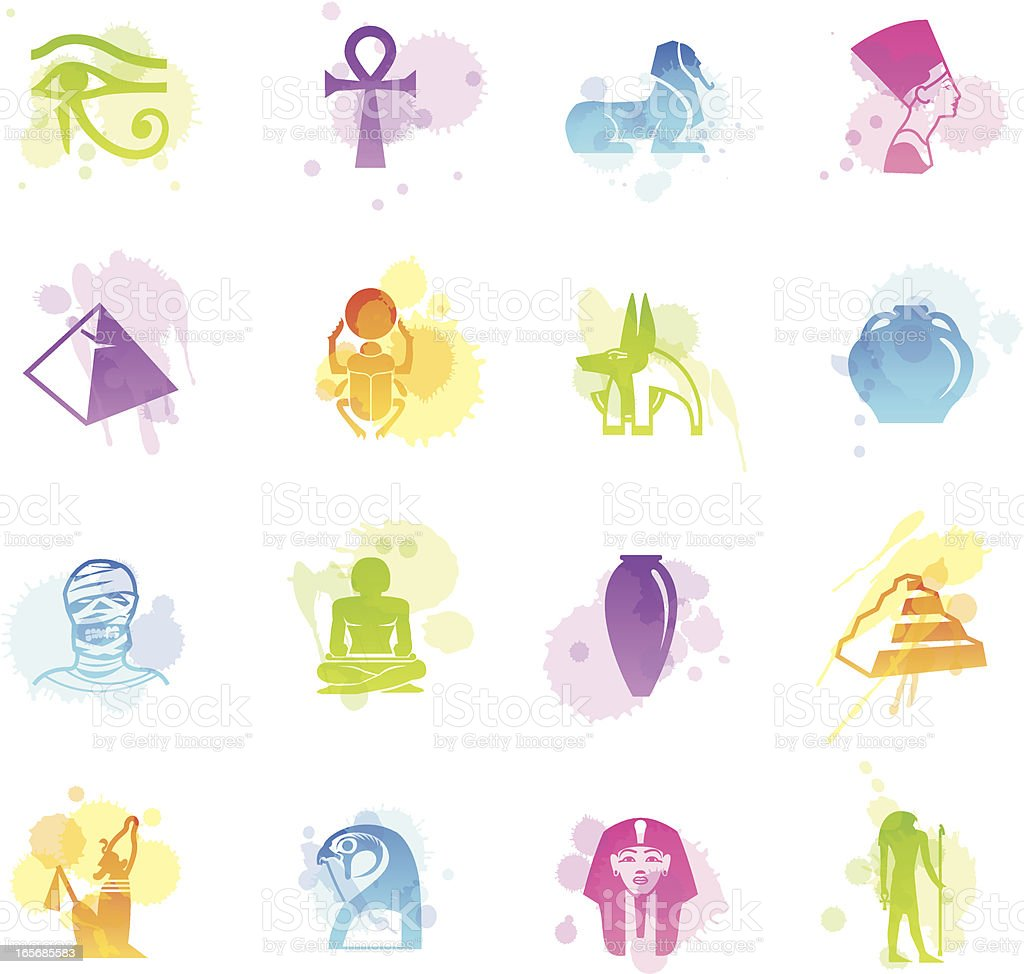 Stains Icons - Egypt royalty-free stock vector art