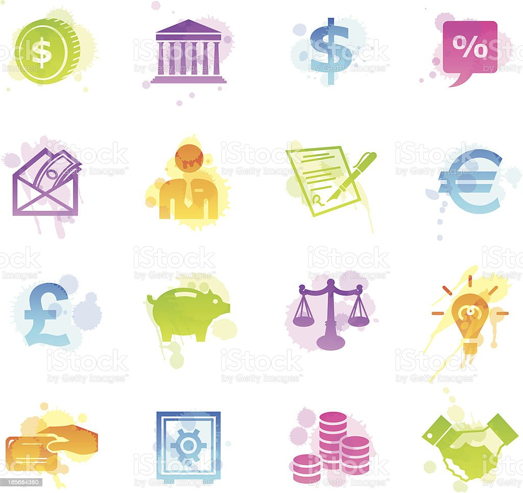 Stains Icons - Finance royalty-free stock vector art