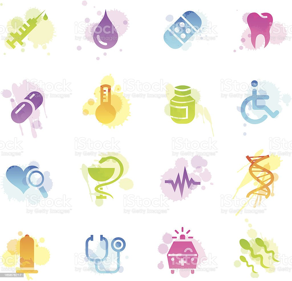Stains Icons - Medical royalty-free stock vector art