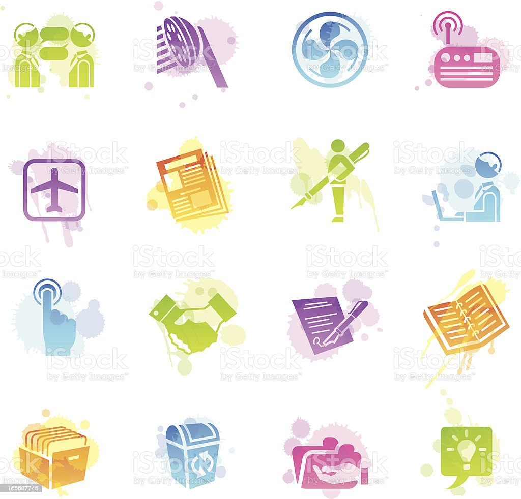 Stains Icons - Office royalty-free stock vector art