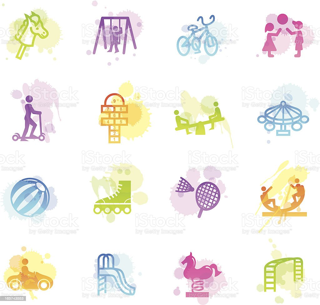 Stains Icons - Playground royalty-free stock vector art
