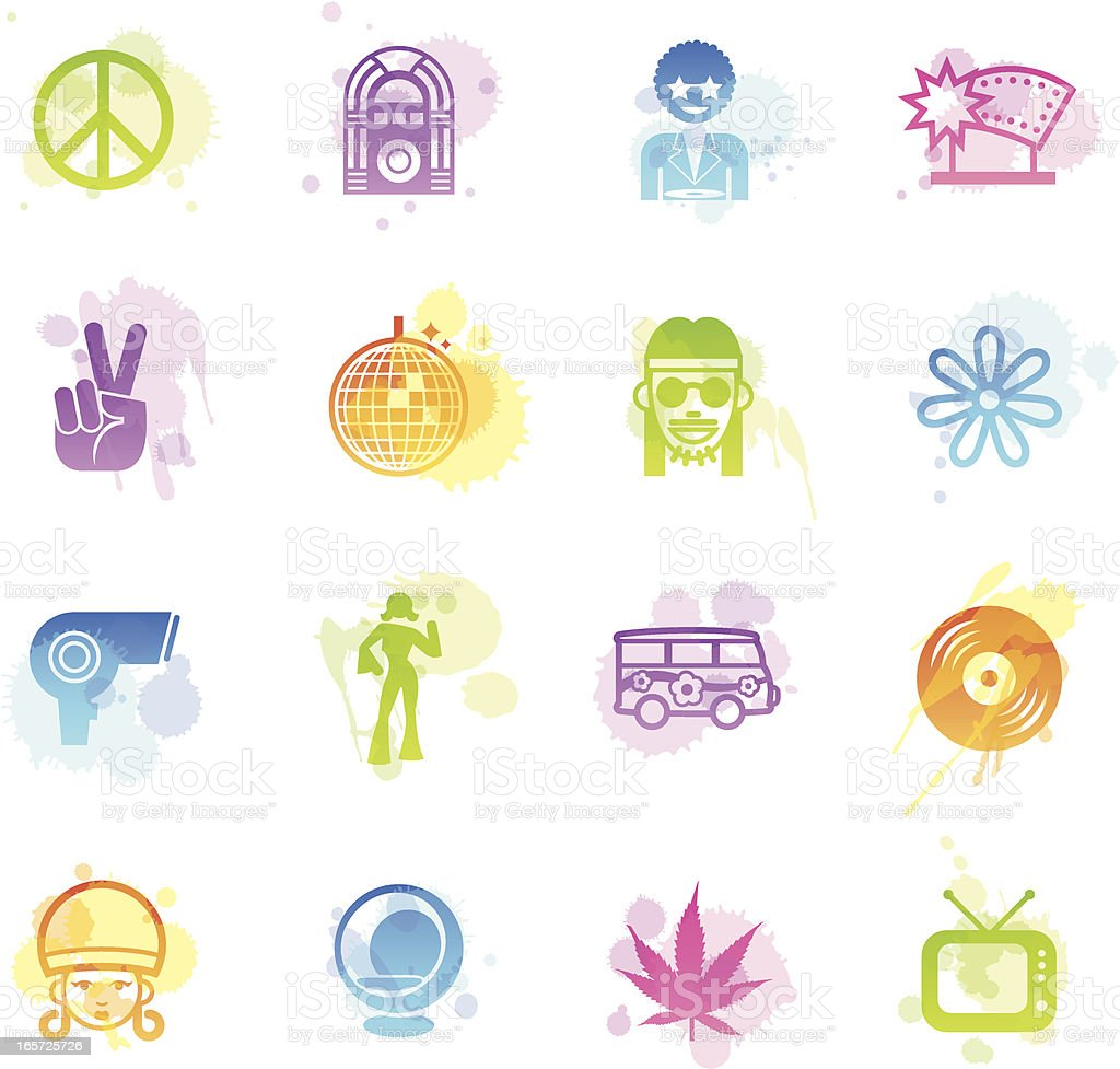 Stains Icons - Retro royalty-free stock vector art