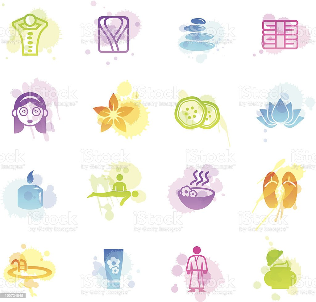 Stains Icons - Spa & Wellness royalty-free stock vector art