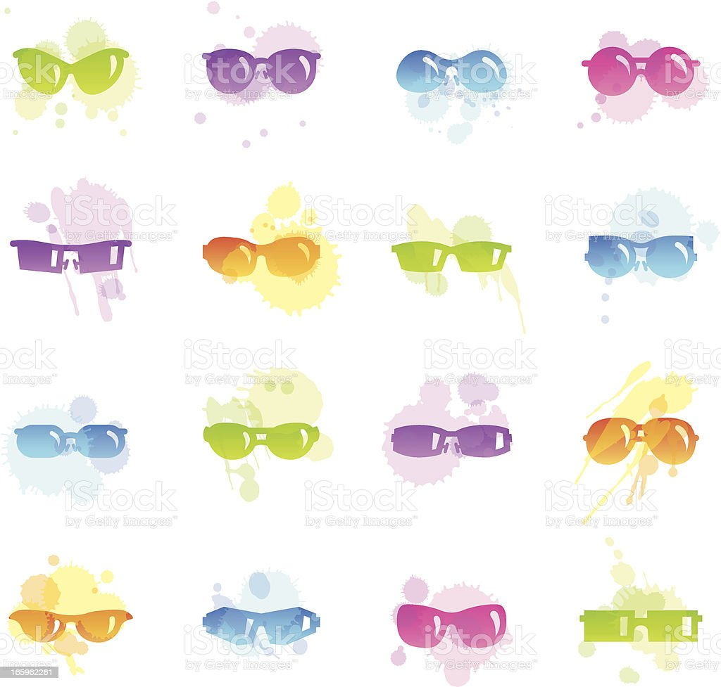 Stains Icons - Sunglasses vector art illustration