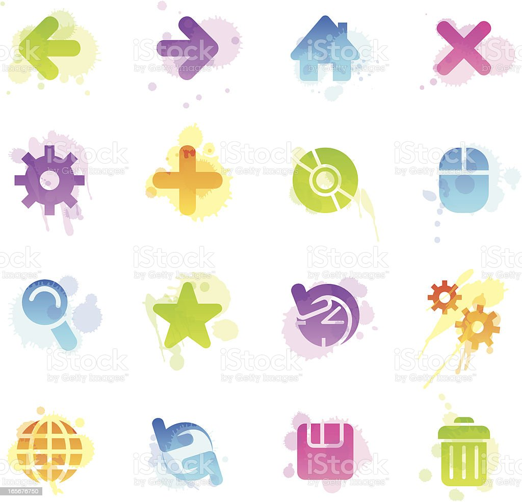 Stains Icons - Web royalty-free stock vector art