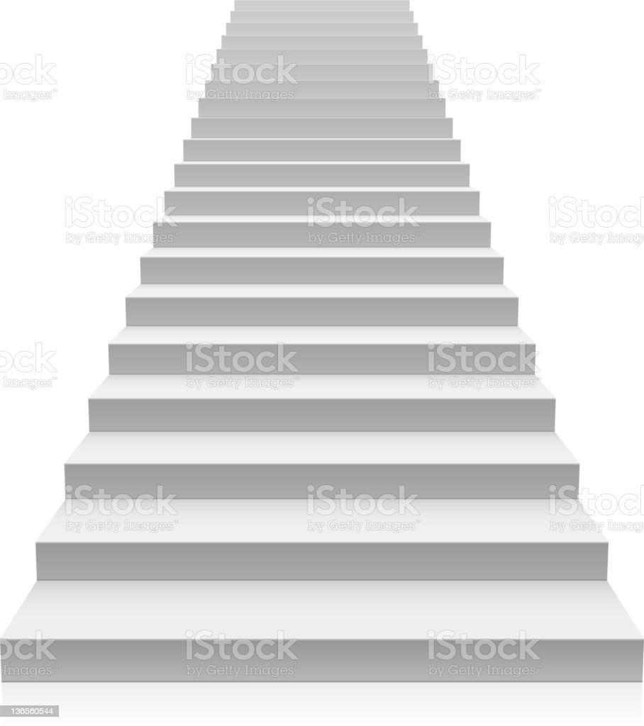 Staircase vector art illustration