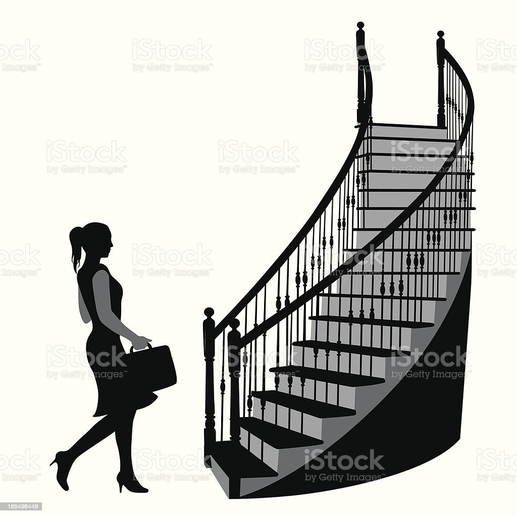 Staircase  Vector Silhouette royalty-free stock vector art