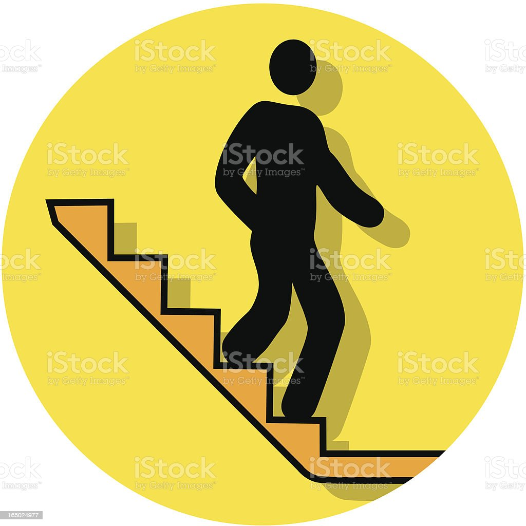 stairs down icon royalty-free stock vector art