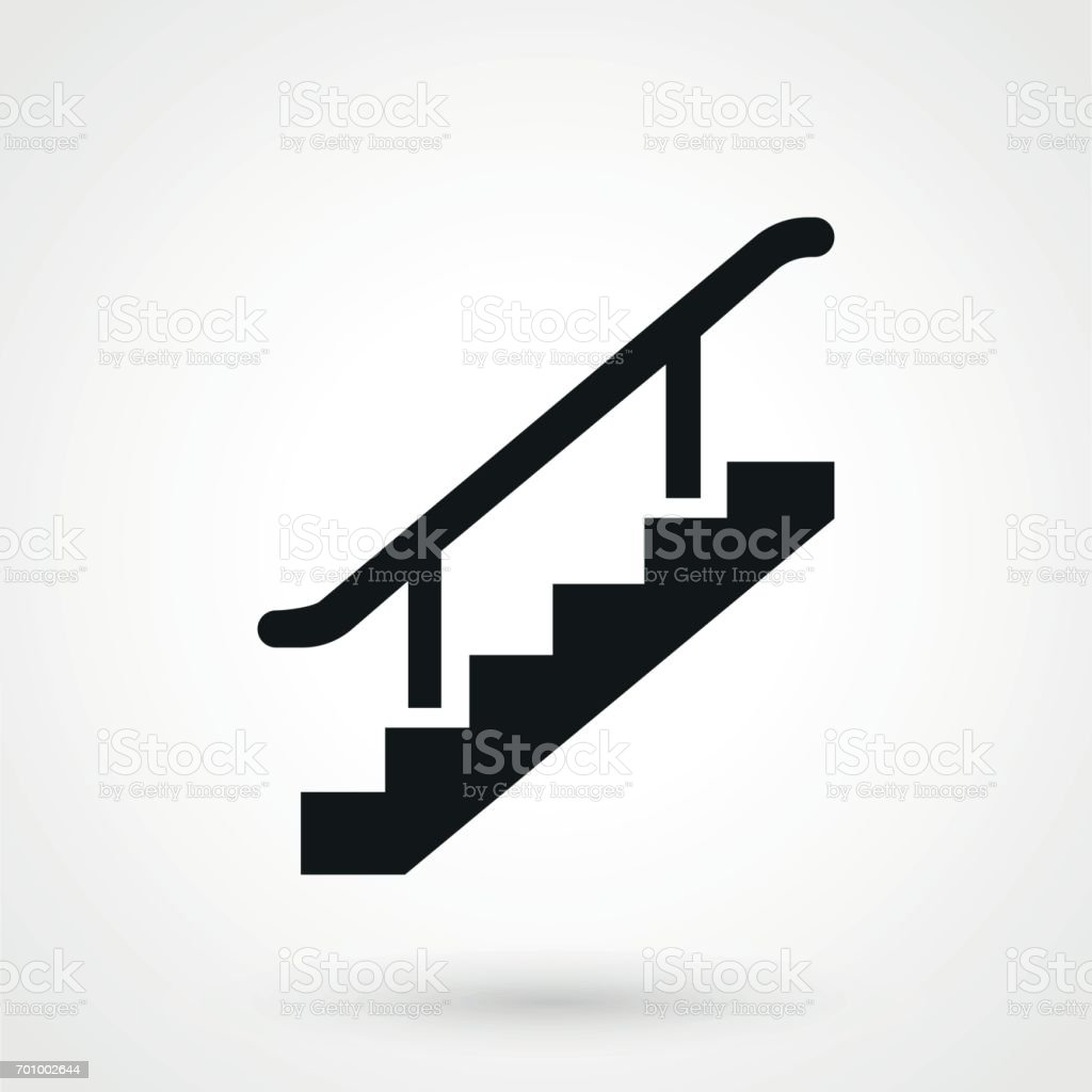 stairs icon vector vector art illustration