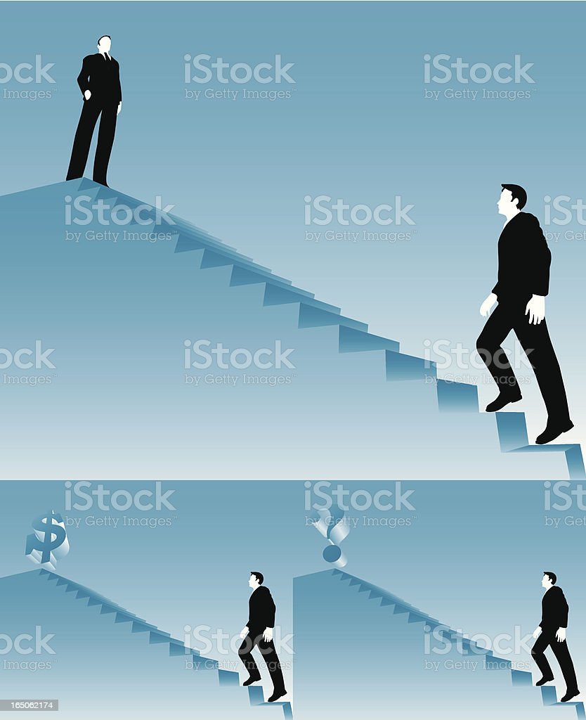 Stairs to success. royalty-free stock vector art
