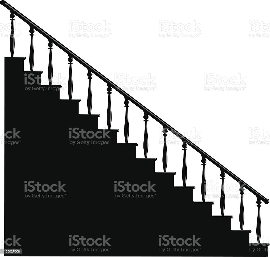 stairs vector art illustration